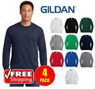 4 PACK Gildan Heavy Cotton Long Sleeve T Shirt Mens Blank Casual Plain Tee 5400 image