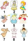 Angel Small or Large Sticky White Paper Stickers Labels NEW