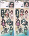 Docrafts Santoro Gorjuss Postal Collection & more 2 Sheets of 7 stickers for 99p