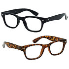 Reading Glasses Rubber Coated Frame Clear Lens Retro Square Frame Readers New