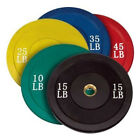Ader Olympic Colored Rubber Bumper Plates- 10,15,25,35,45 Lbs