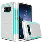 For Samsung Galaxy S8 Active Hybrid Phone Case + Tempered Glass Screen Protector