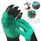 New Garden Gloves Digging Planting W/ 4 ABS Plastic Claws Gardening Waterproof