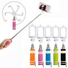 Mini Handheld Wired Selfie Stick Monopod Extendable Pole Holder For Cell Phone