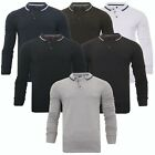 Mens Brave Soul Long Sleeve Polo Shirt Sports Badminton Golf Top Collection