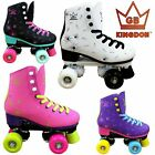 2018 Kingdom GB Venus Quad Roller Skates Disco Girls Womens Retro Derby UK Boots