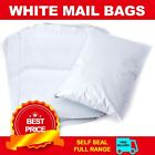 White Polythene Plastic Mailing Postal Packaging Bags w. Strong Self Seal Strip