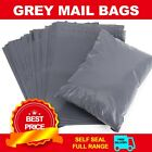 Grey Polythene Plastic Mailing Postal Packaging Bags with Strong Self Seal Strip
