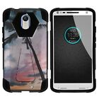 For Motorola Droid Turbo 2 / Kinzie Dual Layer Hybrid Stand Fitted Case Cover