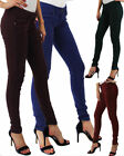New Women's Ladies Stretchy Jeggings Fit Coloured Trousers Skinny Girls Jeans