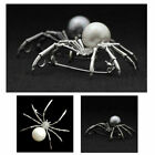 """SPIDER BROOCH 2.25"""" White or Gray Faux Pearl Crystal Rhinestone Pin Halloween"""