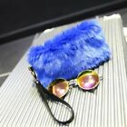Lady Faux Fur Handbag Small Bag Tote Wallet Purse Furry Fluffy Cute Zip On Solid