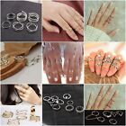 Knuckle Ring Sets Stacking Bands Midi Mid Above Joint Rings Punk Finger Tip