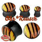 Tiger Tier Wildnis Rockabilly Acryl Plug / Tunnel - SONDERPREIS -  4 - 16mm