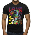 New Boxer Love Black Tee Shirt Muscle Neon Dog Pitbull Puppy Animal Pet Rave