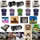 3D Animal Print Faux Fur Large Mink Throw Warm Fleece Bed Sofa - Double Blanket