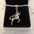 Silver Plated Unicorn Pendant Charm for Charm Bracelet