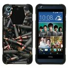 For HTC Desire 626 / 626s / 650 Dual Layer Hybrid Shell Kickstand Fitted Case