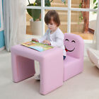 Multi-functional Children's Armchair Kids Wooden Frame Chair and Table Set