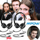 Mpow  3.5mm USB Headset Computer Headphone with Microphone Noise Cancelling US