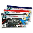 Transparent Pencil Case Student School College Pouch with Coloured Zip Closure