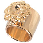 16k Gold Plated Cactus Flower Statement Ring by Zoetik