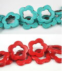 17mm / 32mm Flower Turquoise Stone Loose Beads For Womens DIY Jewelry Makings