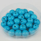 """4mm/6mm/8mm Blue Turquoise Stone Round Loose Beads DIY Jewelry Makings 15"""""""