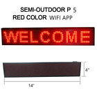 DC12V Car LED Sign Programmable Rolling information P5 WIFi and USB+suckers