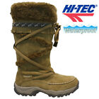 HI TEC LADIES LEATHER FUR WATERPROOF WINTER WARM WALKING HIKING BOOTS SHOES SIZE