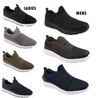 Men Ladies Womens Slip On Running Shoe Lightweight Athletic Walking Gym Trainers
