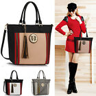 Extra Large Handbags For Women Tote Shoulder Ladies Bag With Tassel Top Zip New