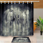 Wild Animals Elephant In Smoke Bathroom Polyester Fabric Shower Curtain 71Inches