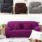 Easy Fit 1/2/3 Seater Thick Plush Velvet Couch Stretch Sofa Cover Slipcover Mat