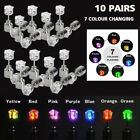 3-9 Pair Unisex Light Up LED Bling Ear Studs Earrings Accessories For Party Xmas