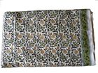 Cotton Voile Fabric Natural Crafting Hand Block Print fabric By the yard V-71