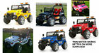 12 V Two Seater 4 X 4 Jeep Powerful Twin Motor Parental Remote Control 2 Speed
