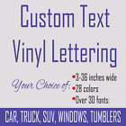 Custom Personalized Text Name Initials Word Vinyl Decal Sticker 3 - 36 inches