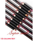 12 Colors Lip Liner Pencil Set Lipstick Pen Matte Classic Long Lasting Makeup