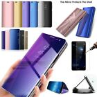 STAND MIRROR SMART LUXURY CLEAR VIEW FLIP HARD CASE COVER HUAWEI TEMPERED GLASS