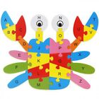 Kids Jigsaw Puzzle Wooden Animal Learning Toys Educational Alphabet Pattern New