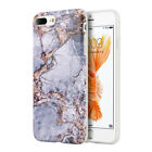 iPhone X 8 7 6 Plus Hybrid Rubber Silicone Soft TPU Case Cover Marble Pattern