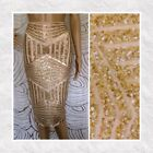MADE in USA - Womens Gold Sequin Pencil Skirt Holiday Sexy Sparkle NYE Outfit