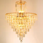 MIL European Style Tassel Crystal Chandeliers Home Decor Shining Ceiling Lamps
