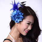 Cheap Belly Dance Accessory Brooches Feather Head Flower 14colors