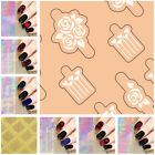 Nail Vinyls Stickers Hollow Stencil Stickers Nail Art Decals Manicure Decoration