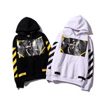 Striped religious angel hedging Hooded sweater Men and women couple coat