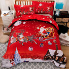Christmas Doona Quilt Duvet Cover Set Double Queen King Size Bed Pillow cases