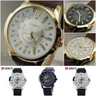 Cureen Fashion Luxury Brand Male Hours Date Brown Leather Strap Christmas Sale