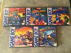 Game Boy Custom Game Cases Mega Man 1, 2, 3, 4, & 5 - NO GAMES INCLUDED